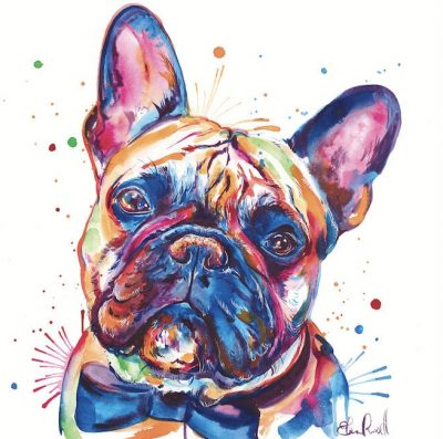 French bulldog artwork